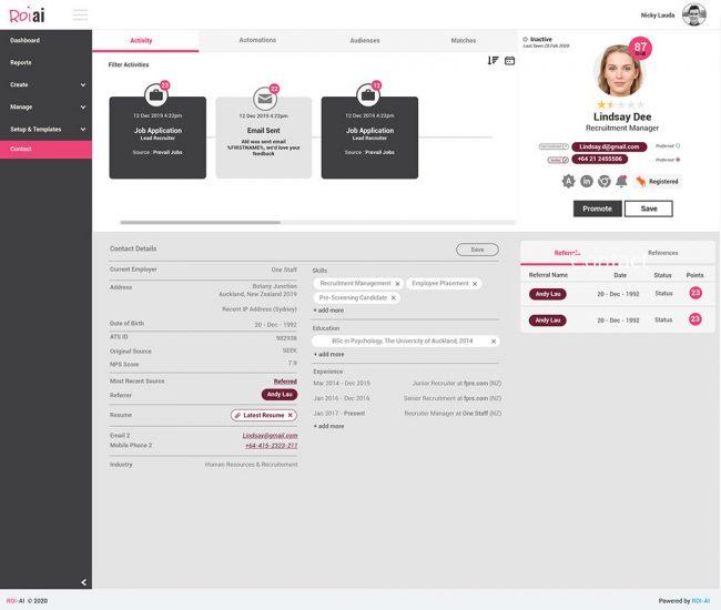 Roi-AI Recruitment Automation Screenshot